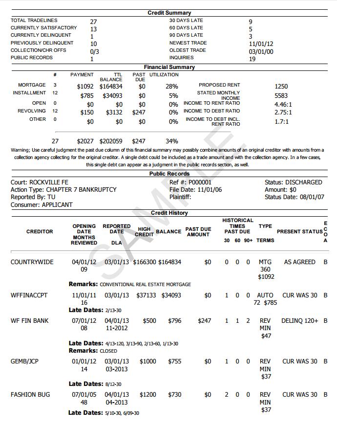 Sample - Multifamily Screening Report 2